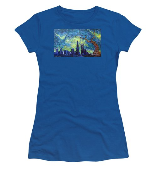 Starry Night Over The Queen City Women's T-Shirt