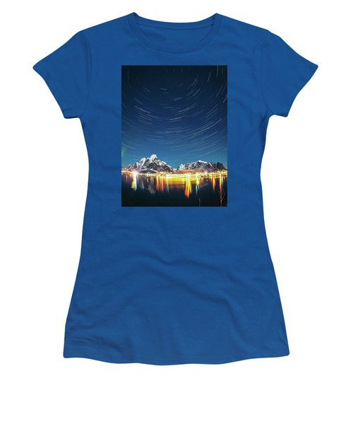 Startrails Above Reine Women's T-Shirt