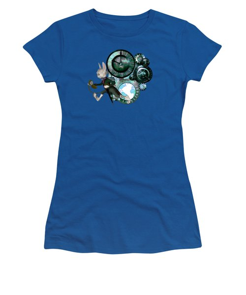 Steampunk White Rabbit Women's T-Shirt (Athletic Fit)