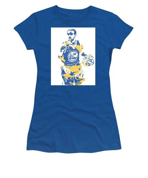 Stephen Curry Golden State Warriors Pixel Art 21 Women's T-Shirt
