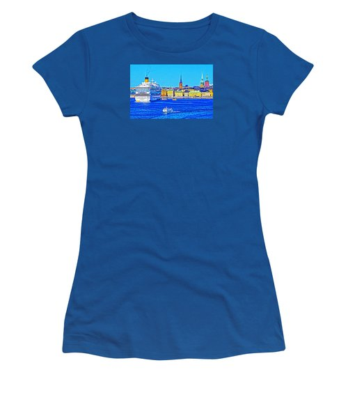 Women's T-Shirt (Junior Cut) featuring the photograph Stockholm Cruise by Dennis Cox WorldViews