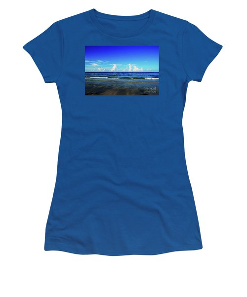 Women's T-Shirt (Athletic Fit) featuring the photograph Storm On The Horizon by Gary Wonning