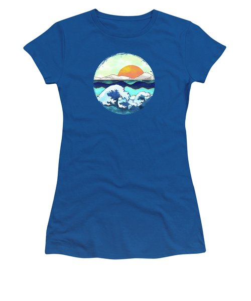 Stormy Waters Women's T-Shirt (Junior Cut) by Spacefrog Designs