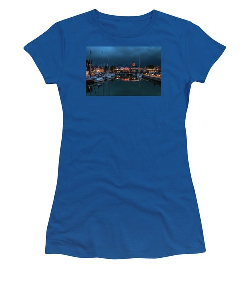 Stralsund At The Habor Women's T-Shirt (Junior Cut) by Martina Thompson
