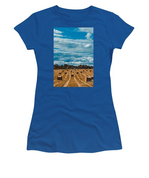 Straw Bales In A Field 2 Women's T-Shirt