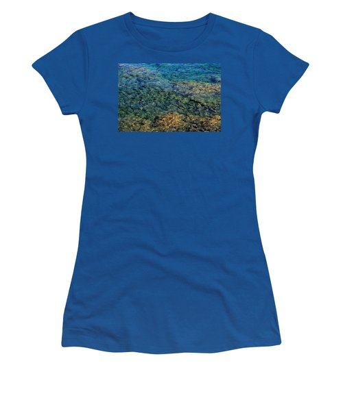 Submerged Rocks At Lake Superior Women's T-Shirt