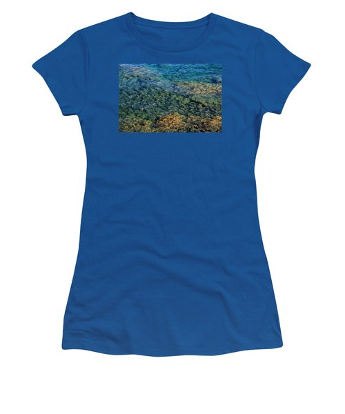 Submerged Rocks At Lake Superior Women's T-Shirt (Athletic Fit)