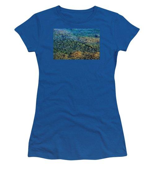 Submerged Rocks At Lake Superior Women's T-Shirt