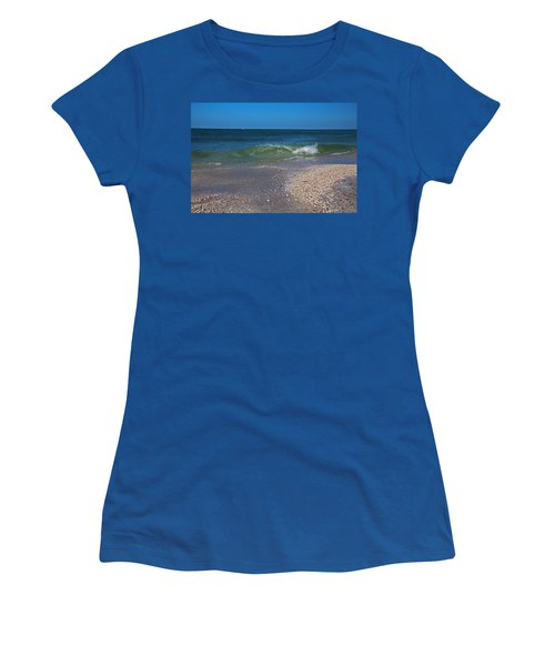Women's T-Shirt (Athletic Fit) featuring the photograph Summer At The Shore by Michiale Schneider