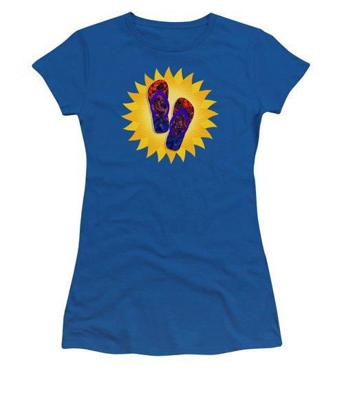 Summer Sunshine And Red Flip-flops     Women's T-Shirt