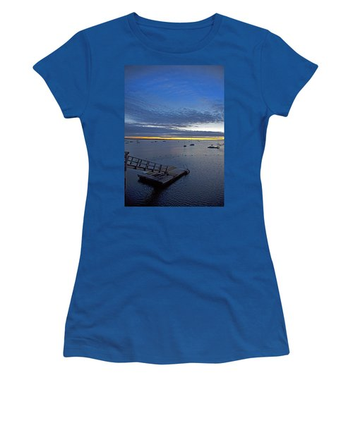 Sunrise At The Barnstable Yacht Club Women's T-Shirt