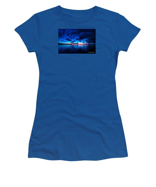 Women's T-Shirt (Junior Cut) featuring the photograph Sunset After Glow by Christopher Holmes