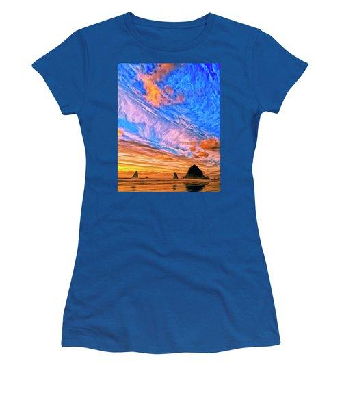 Sunset At Cannon Beach Women's T-Shirt