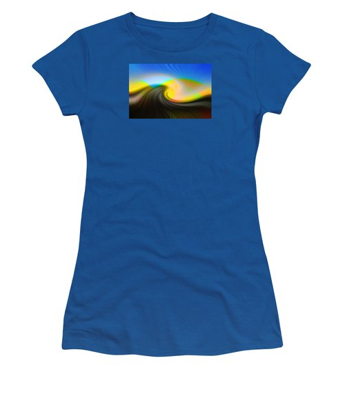 Sunset Over The Lake Women's T-Shirt (Junior Cut) by Lewis Mann