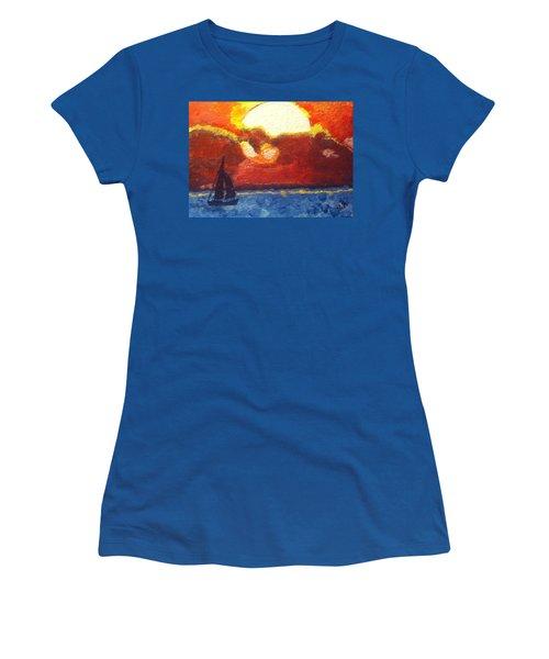 Sunset Sail Women's T-Shirt (Athletic Fit)