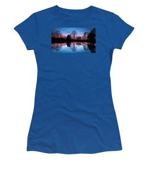 Sunset Symmetry Women's T-Shirt (Athletic Fit)