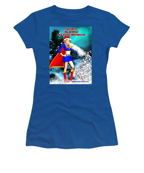 Supergirl Holiday Greeting Card Women's T-Shirt