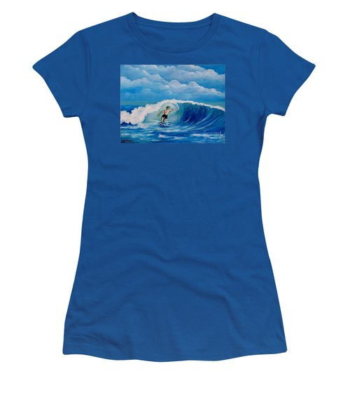 Surfing On The Waves Women's T-Shirt