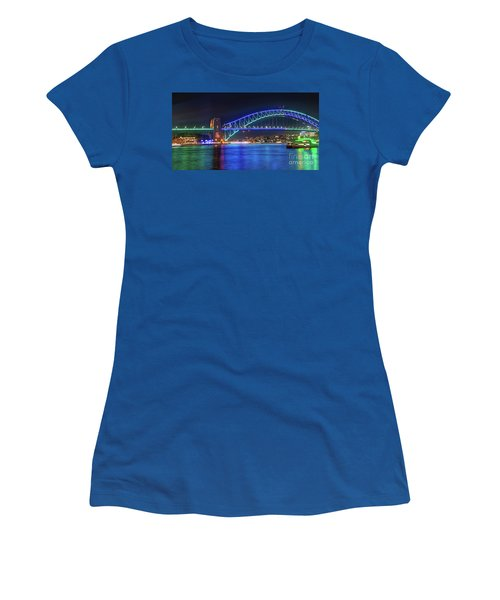 Sydney Harbour Green And Blue By Kaye Menner Women's T-Shirt (Athletic Fit)