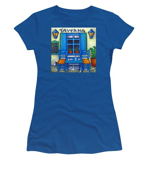 Table For Two In Greece Women's T-Shirt (Athletic Fit)