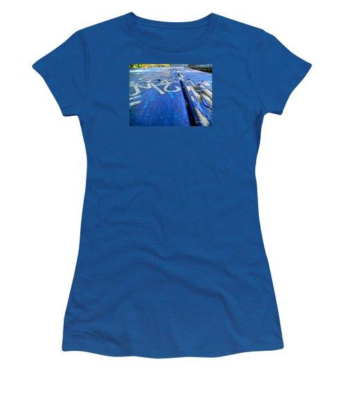 Table Graffiti Women's T-Shirt (Junior Cut) by KD Johnson