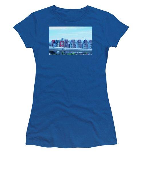 Tacoma Blues - Cityscape Art Print Women's T-Shirt (Junior Cut) by Jane Eleanor Nicholas