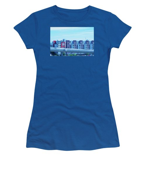 Tacoma Blues - Cityscape Art Print Women's T-Shirt (Athletic Fit)