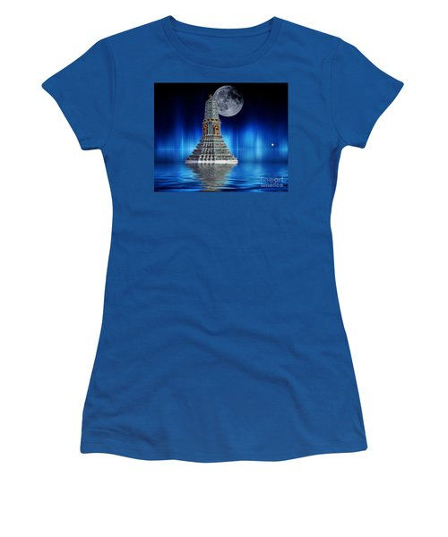 Women's T-Shirt (Junior Cut) featuring the photograph Temple Of The Moon by Shirley Mangini