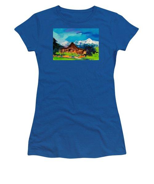 Teton Barn  Women's T-Shirt (Athletic Fit)