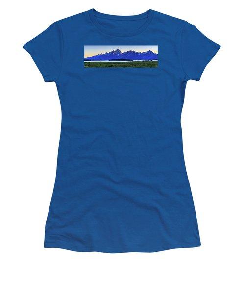 Women's T-Shirt (Junior Cut) featuring the photograph Teton Sunset by David Chandler