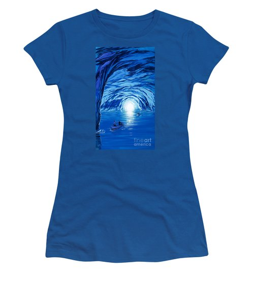 The Blue Grotto In Capri By Mcbride Angus  Women's T-Shirt