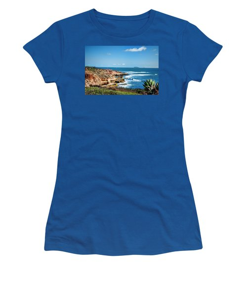 Women's T-Shirt (Junior Cut) featuring the photograph The Cliffs Of Point Loma by Daniel Hebard
