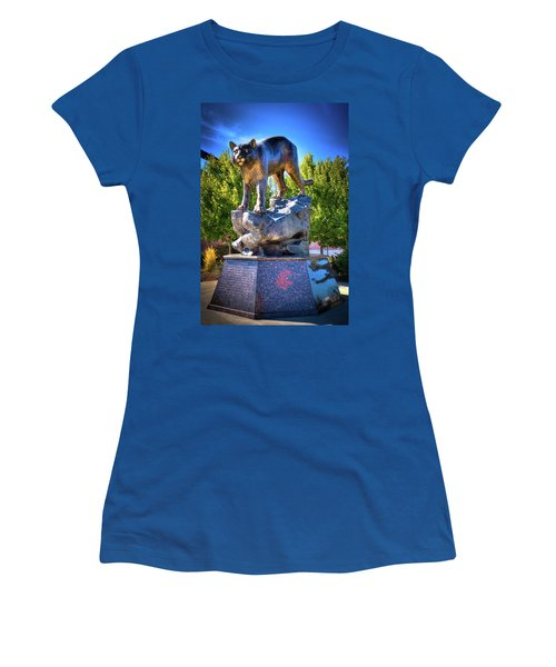 The Cougar Pride Sculpture Women's T-Shirt (Junior Cut) by David Patterson