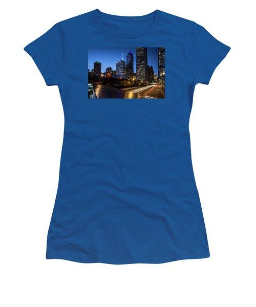 The East Side Skyline Of Chicago  Women's T-Shirt