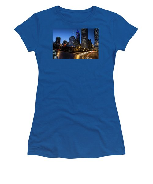 The East Side Skyline Of Chicago  Women's T-Shirt (Athletic Fit)
