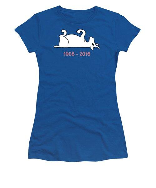 The Goat Is Dead Women's T-Shirt (Junior Cut) by Larry Scarborough