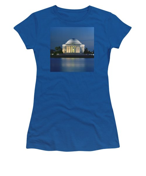 The Jefferson Memorial Women's T-Shirt (Athletic Fit)