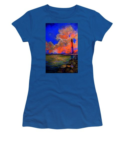 Women's T-Shirt (Junior Cut) featuring the painting The Light by Emery Franklin