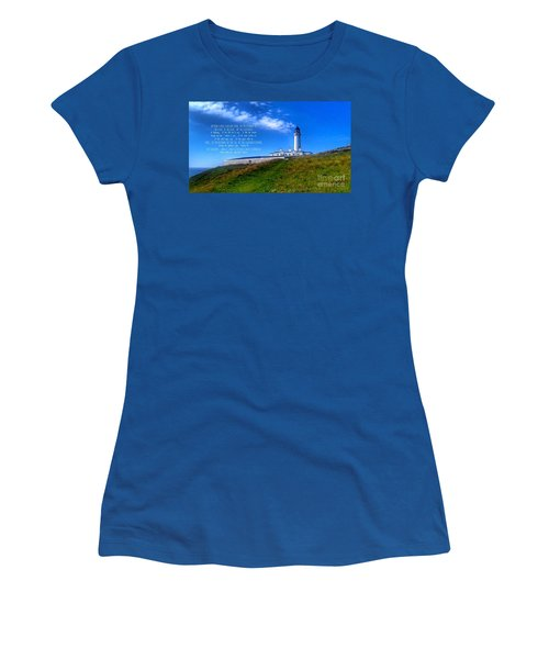 The Lighthouse On The Mull With Poem Women's T-Shirt (Athletic Fit)