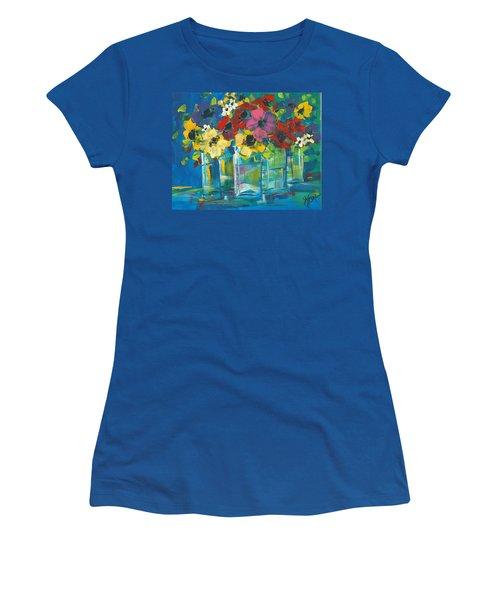 The Line-up Women's T-Shirt (Junior Cut) by Terri Einer