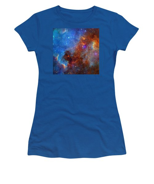 Women's T-Shirt (Junior Cut) featuring the photograph The North America Nebula In Different Lights by NASA JPL - Caltech