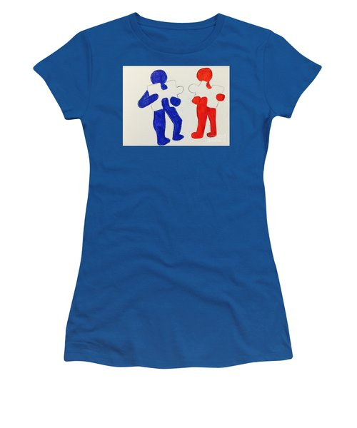The Puzzles People  Women's T-Shirt (Athletic Fit)
