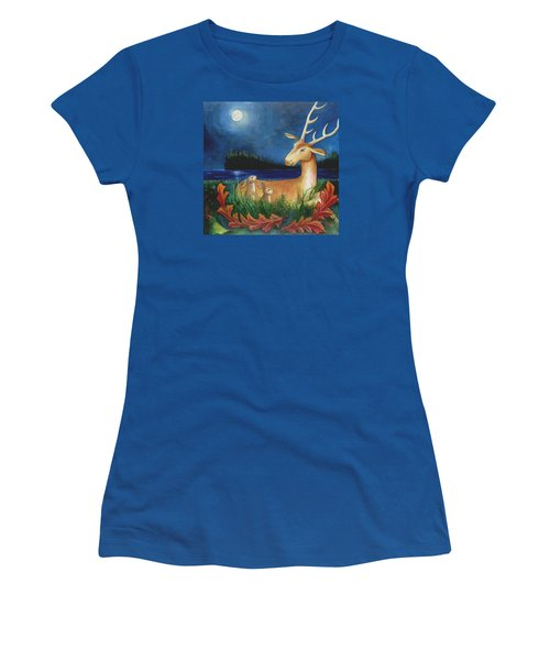 Women's T-Shirt (Junior Cut) featuring the painting The Story Keeper by Terry Webb Harshman