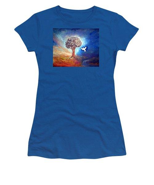 The Tree Women's T-Shirt (Junior Cut) by Winsome Gunning