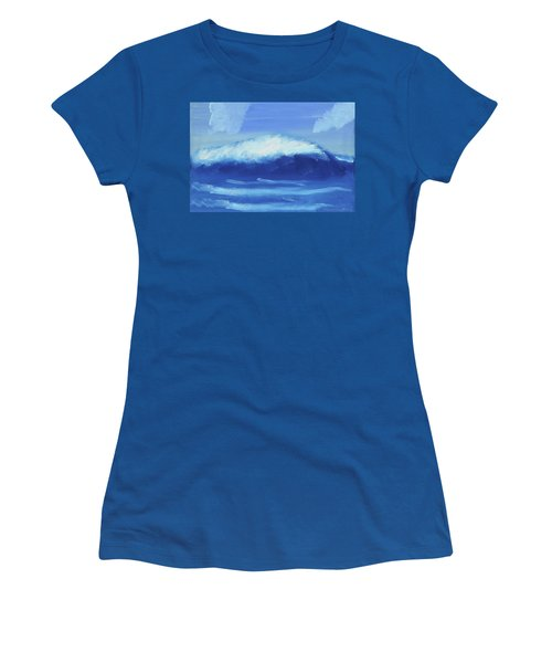 The Wave Women's T-Shirt (Junior Cut) by Artists With Autism Inc
