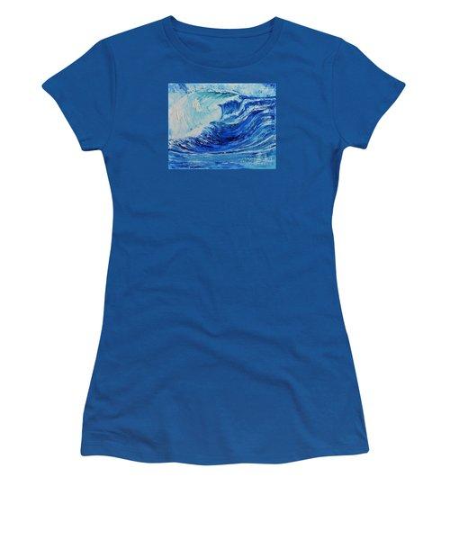 The Wave Women's T-Shirt (Junior Cut) by Teresa Wegrzyn