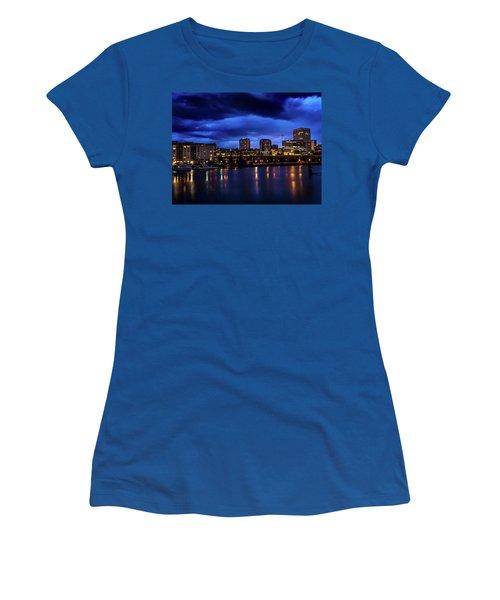 Thea Foss Waterway Storm Brewing Women's T-Shirt