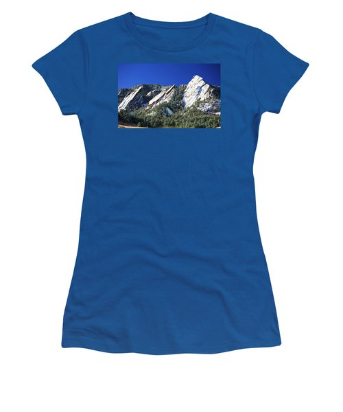Three Flatirons Women's T-Shirt (Junior Cut) by Marilyn Hunt