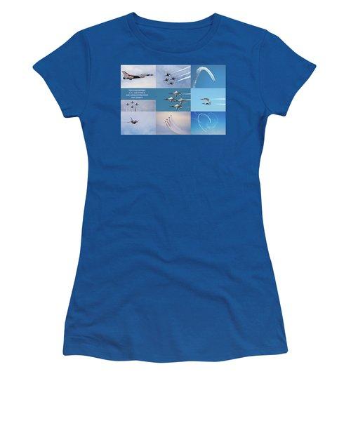 Women's T-Shirt featuring the photograph Thunderbird Compilation by Dan McManus