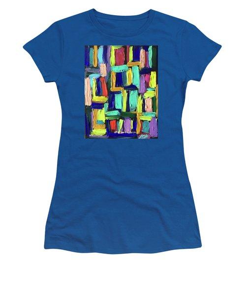 Times Square Nighttime Women's T-Shirt (Junior Cut) by Brenda Pressnall